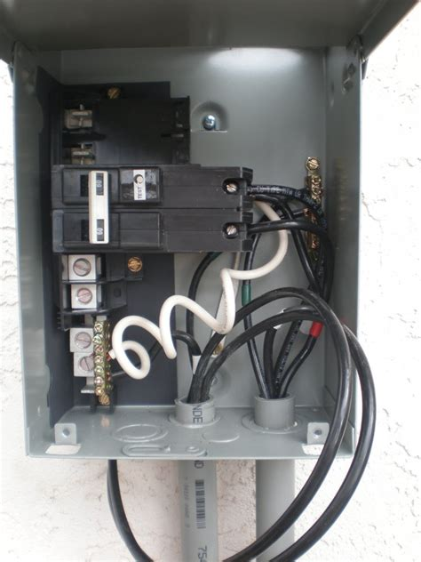 Connections For Midwest Electric Gfci Spa Disconnect Panel