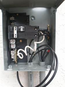 Connections For Midwest Electric 60a Gfci Spa Disconnect Panel