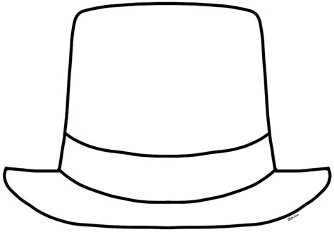 top hat coloring page    top hat