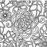Coloring Drawings Colorful Mandala sketch template