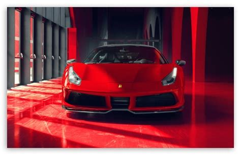 cool red ferrari car  ultra hd desktop background