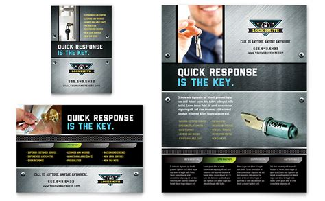 locksmith flyer ad template word publisher