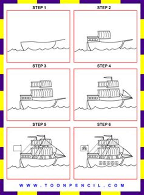 Viking Boats Step By Step by Galleon Sailing Ship Drawing How To Draw