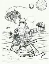 Wars Battle Coloring Hoth Printable Getcolorings sketch template