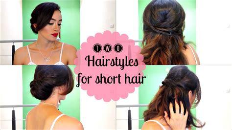 Easy Hairstyles for Short Hair Dos Peinados Fáciles para