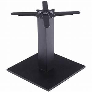 Pied De Table Metal Carré : pied de table biz carr en m tal 39cmx39cmx44cm noir ~ Teatrodelosmanantiales.com Idées de Décoration