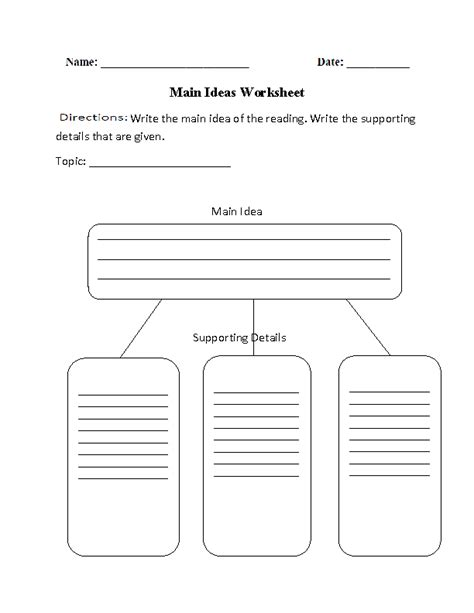reading comprehension worksheets ideas and details