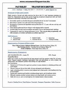 bus driver resume sample With bus driver resume sample