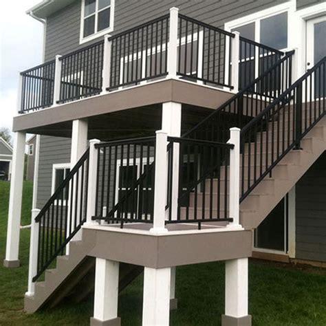 black porch railing railing image gallery afco aluminum decksdirect
