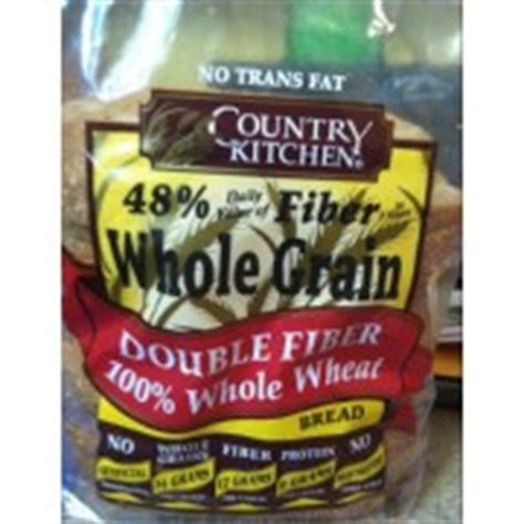 country kitchen calories country kitchen fiber 100 whole wheat bread 2747