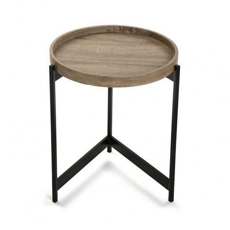 tableau memo cuisine design table basse d appoint ronde plateau bois metal noir versa