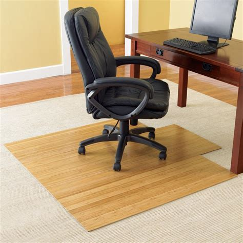 Consider Bamboo Chair Mats   The Home Makeover Diva
