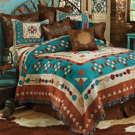 Western Bedding: King Size Southwest at Heart Tapestry
