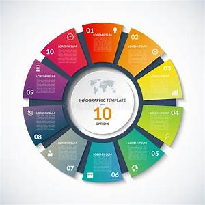 Vector Circle Template For Infographics With 10 Options