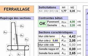 Ferraillage Fondation Mur De Cloture : excel ferraillage tous types de murs de sout nement ~ Dailycaller-alerts.com Idées de Décoration