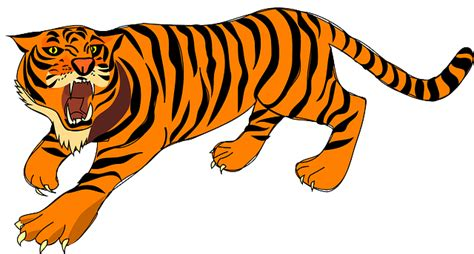 호랑이, 성난, 방어, 줄무늬, 시끄러운, 동물, 포유 동물