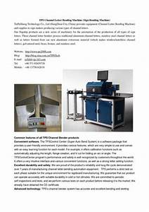 calameo tps channel letter bending machine auto bender With tps channel letter bending machine
