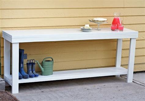 Diy Outdoor Buffet Table - WoodWorking Projects & Plans