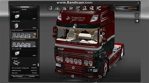 euro truck simulator  custumization daf xf  youtube