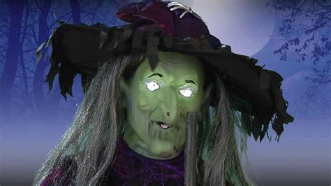 lifesize animated witch  misting cauldron youtube