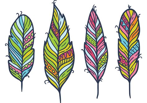 free feather isolated vector set download free vector