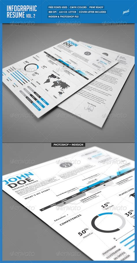Clean Infographic Resume Vol 2 Cover Letter by Clean Infographic Resume Vol 2 Cover Letter Graphicriver