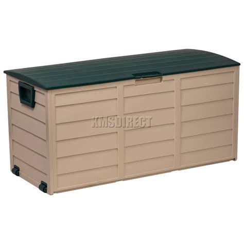 starplast outdoor garden plastic storage utility chest