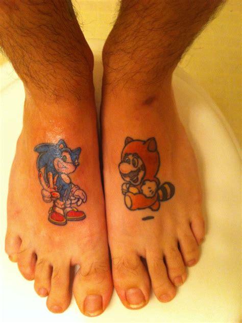 sonic  duck anime tattoos  feet