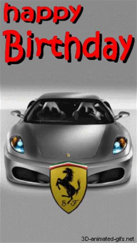 animated  gif happy birthday super car ferrari funny