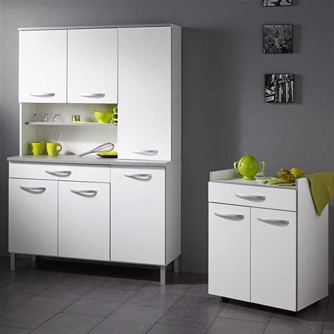 meuble buffet cuisine buffet de cuisine quot smarty quot 120cm blanc