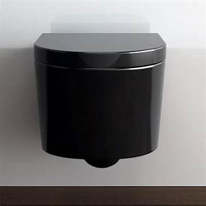 Wc Suspendu Autoportant : wc suspendu orba noir avec abattant ~ Edinachiropracticcenter.com Idées de Décoration