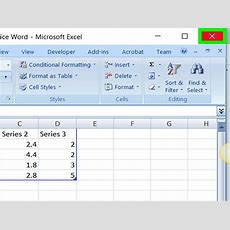How To Add A Graph To Microsoft Word 11 Steps (with Pictures