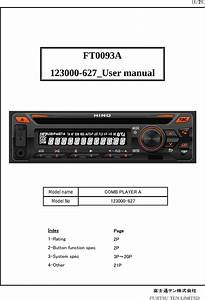 Fujitsu Ten Car Stereo Manual