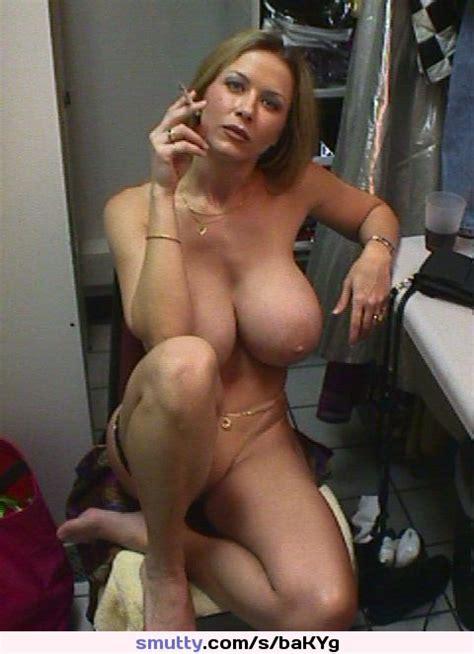 Blonde Milf Mature Housewife Weddingring Smoking