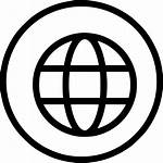 Icon Web Wide Circle Round Earth Svg