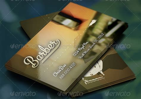 barber business card templates pages indesign word