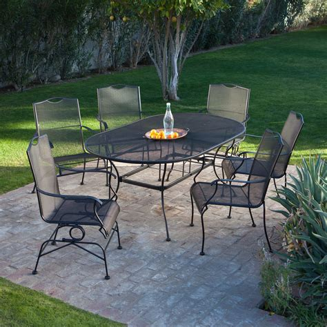 superb iron patio sets 5 wrought iron patio dining sets