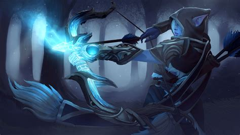 steam workshop teardrop  winterwood drow ranger set