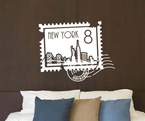 wandtattoo new york wandtattoo skyline new york stadt sts briefmarke marke wand aufkleber 5m225 wandtattoos