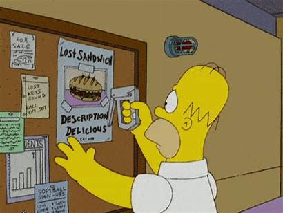 Simpsons Homer Simpson Sandwich Gifs Animated Giphy