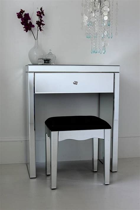mirrored vanity table mini mirrored dressing table by out there interiors 4167