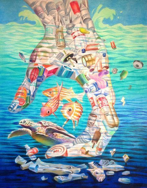 Ocean Awareness Poem The Man Plastic Art