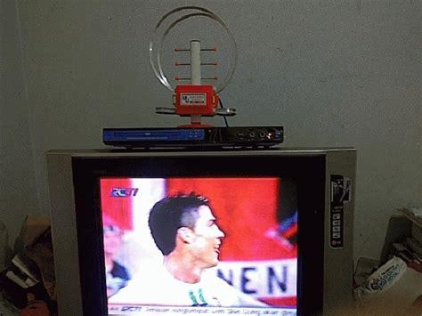 memperbaiki antena tv indoor  jernih simak