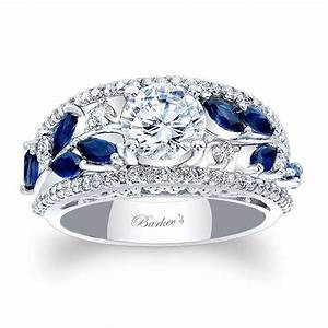 Barkev39s blue sapphire engagement ring 7984lbs barkev39s for Sapphire engagement ring and wedding band set