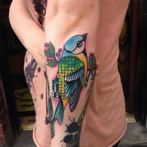arm  school bird tattoo  mike stocklings
