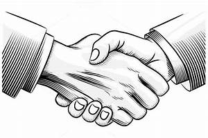 sketch handshake ~ Illustrations on Creative Market
