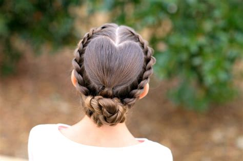 rope braided heart valentine s day hairstyles cute