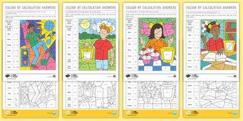 * New * Ks2 Bbc Children In Need Colour By Calculation Maths Differentiated