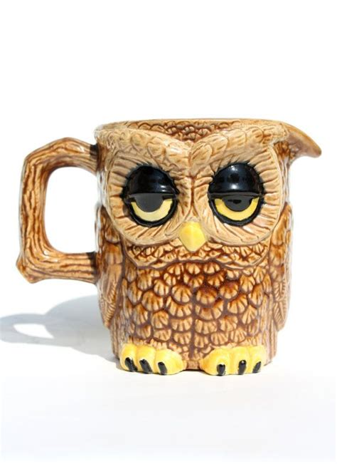 It gave me and my company friends the luxury of sampling the taste of a brewed coffee with the richness of cream and with a not so sweet blend. 1970s Unique DoubleSided Owl Creamer or Mug by ...