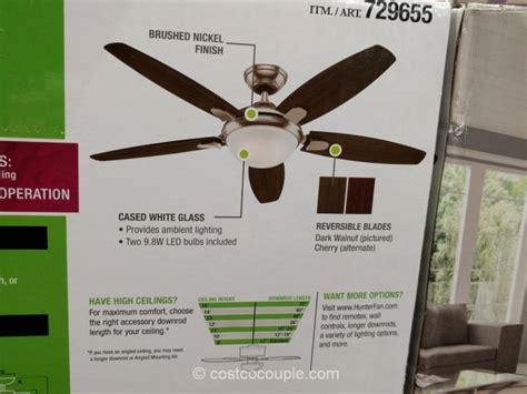 hunter avia 54 led ceiling fan costco ceiling fans pranksenders
